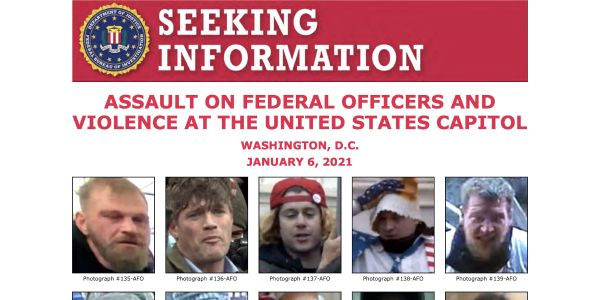 FBI Asks for Public Help in IDing 10 Capitol Rioters