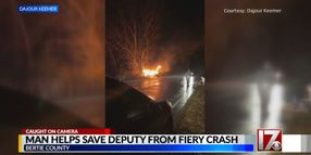 NC Deputy Pulled from Fiery Crash by Good Samaritans