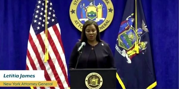 New York's state Attorney General Letitia James announces she is suing the NYPD over force used...