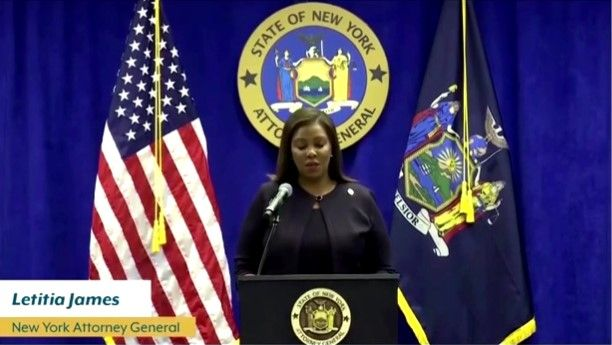 New York's state Attorney General Letitia James announces she is suing the NYPD over force used on protesters. (Photo: Screen Shot of Official Video) -