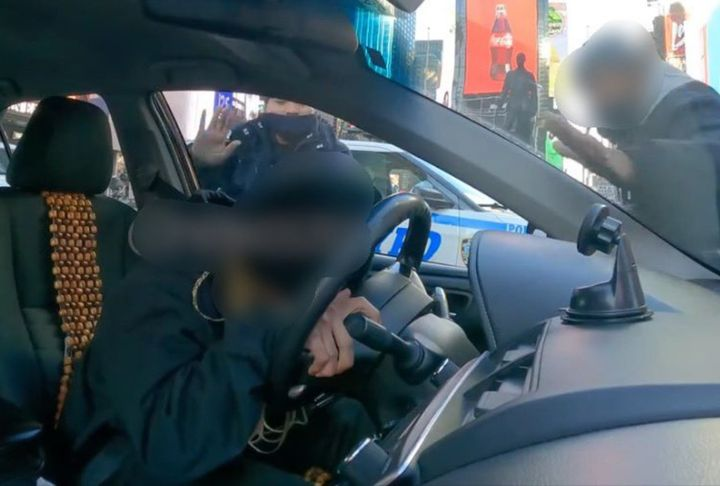 Officials say a man faked a medical emergency in Times Square for YouTube. NYPD and EMS responded. (Photo: NYPD/Twitter) -
