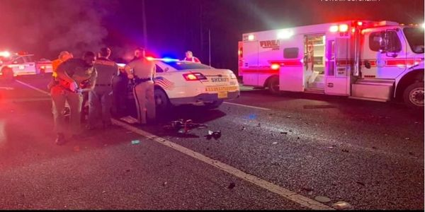 Two Putnam County, FL, sheriff's deputies were injured Tuesday night when their patrol vehicles...
