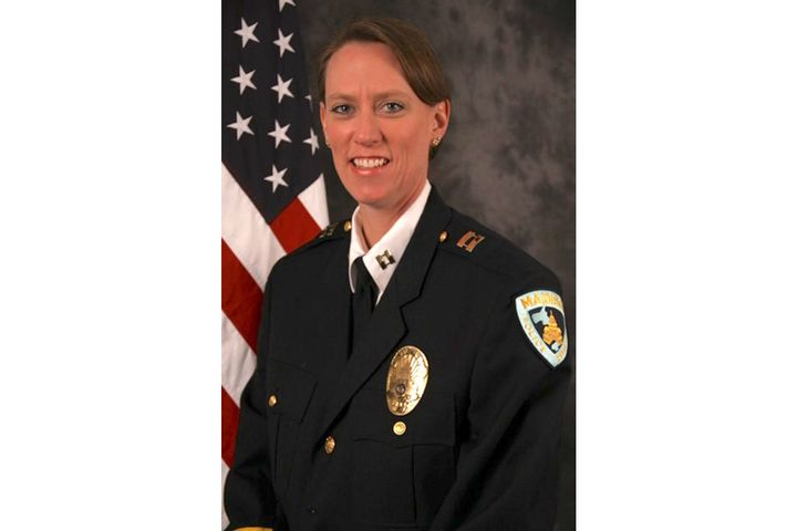 Chief Kristen Roman of the University of Wisconsin Police Department has banned the Thin Blue Line symbol. (Photo: UWPD) -