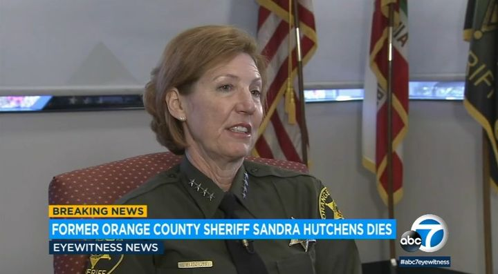 Sandra Hutchens served as Orange County, CA, sheriff from 2008 to 2019. (Photo: ABC7 Screen Shot) -