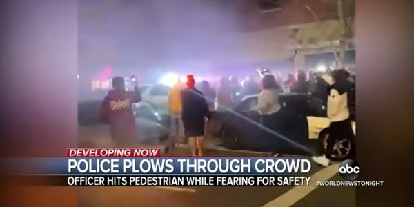 WA Officer Drives Through Crowd After Patrol Vehicle Mobbed