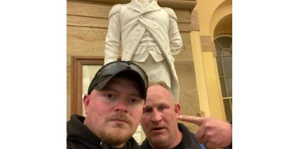 "Photo showing Rocky Mount, VA, OfficerJacob Fracker and Sgt. Thomas ""T.J."" Robertson inside the..."