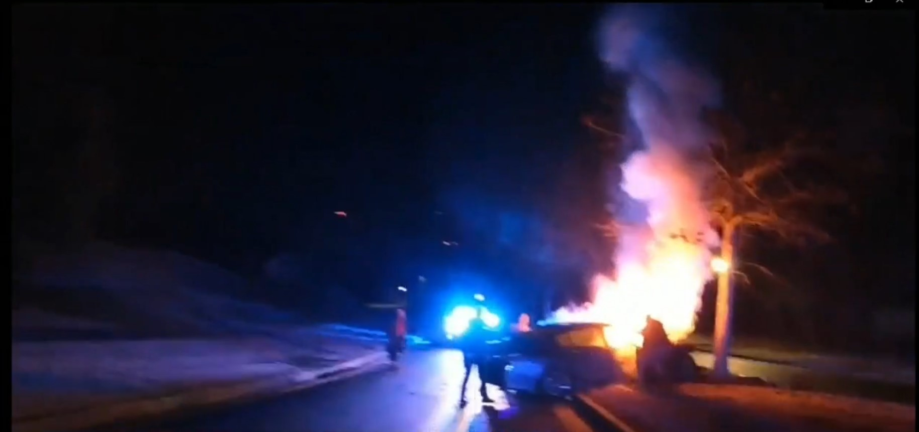 GA Officers Rescue 2 People from Burning Car
