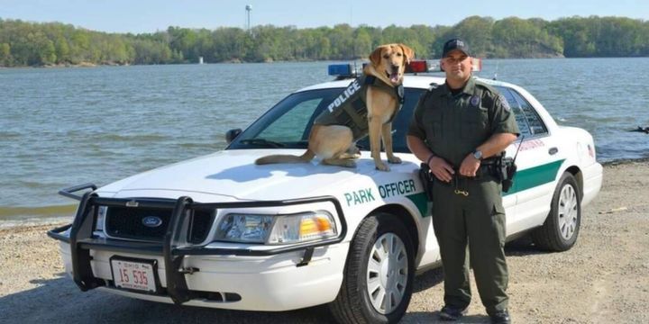 Officer Jason Lagore, a K-9 handler for the Ohio Department of Natural Resources, died Tuesday after a medical event. (Photo: ONDR) -