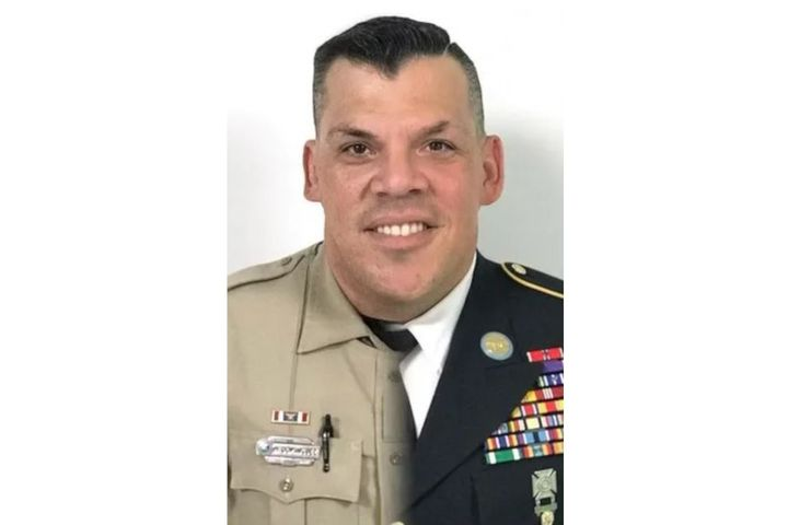 Officer Horacio Sebastian Dominguez of the MiccosukeePolice Department was killed Sunday in a rollover accident on the interstate. (Photo: Team South Florida) -