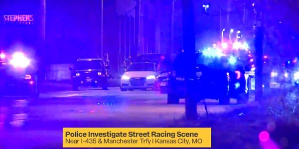 "Kansas City officers ended a ""sideshow"" Tuesday night using spike strips. (Photo: Fox 4 Screen Shot)"