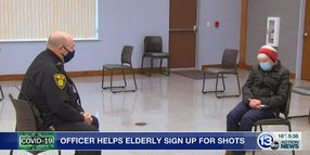 Ohio Officer Helps Elderly Gain Access to Vaccines