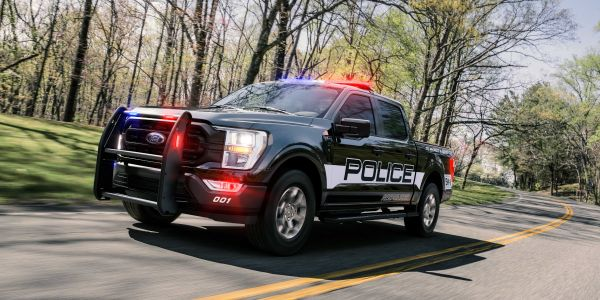 The new 2021 F-150 Police Responder has a top speed of 120 mph.