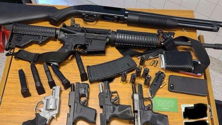 Atlanta officers took six guns off the suspect. (Photo: Atlanta PD) -