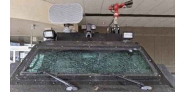 Boulder Police say an armored rescue vehicle sustained heavy damage during the incident. (Photo:...