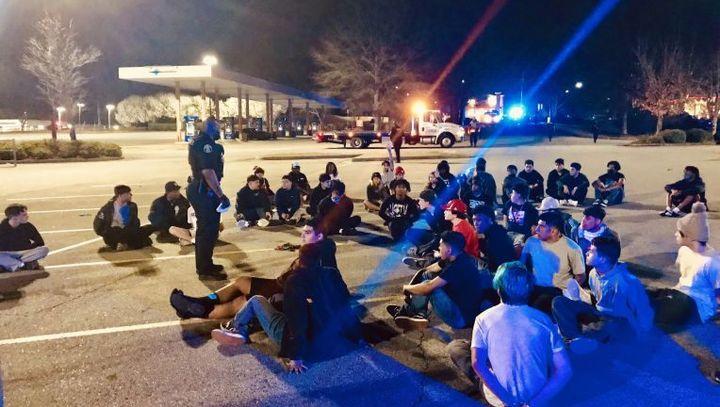Suburban Atlanta law enforcement agencies arrested at least 88 street racing suspects Saturday night. (Photo: Clayton County SO) -