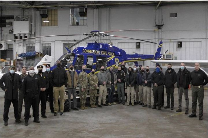 The teams ran scenarios at Hartford-Brainard Airport where they tested the police department's ability to locate a rogue drone as well as its operator by using law enforcement operated drones to find them. (Photo: TSA) -