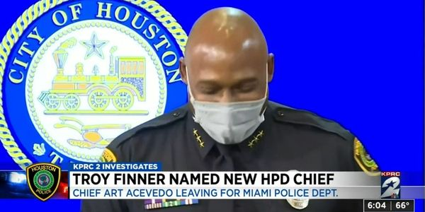 Houston's new chief Troy Finner began working at HPD in 1990 and has served in several...