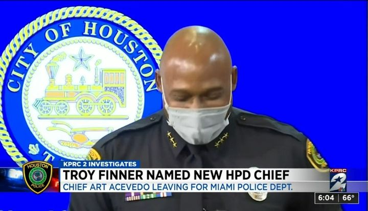 Houston's new chief Troy Finner began working at HPD in 1990 and has served in several capacities over his 31-year-career. (Photo: Click2Houston Screen Shot) -