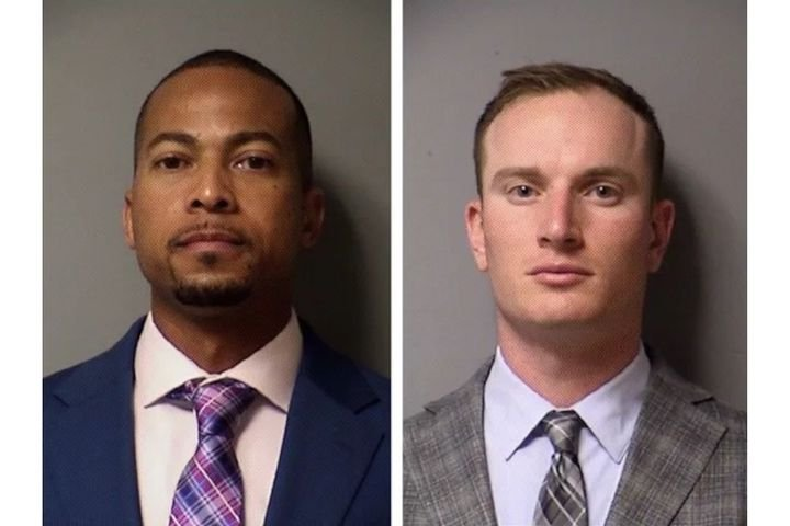Former Williamson County sheriff's Deputies J.J. Johnson and Zach Camden are charged with manslaughter. (Photo: Travis County Jail) -