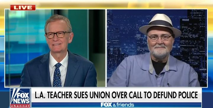 "Glenn Laird said he was ""concerned"" and ""upset"" that the union was engaging in politics that could potentially endanger teachers and students. (Photo: Fox News Screen Shot) -"