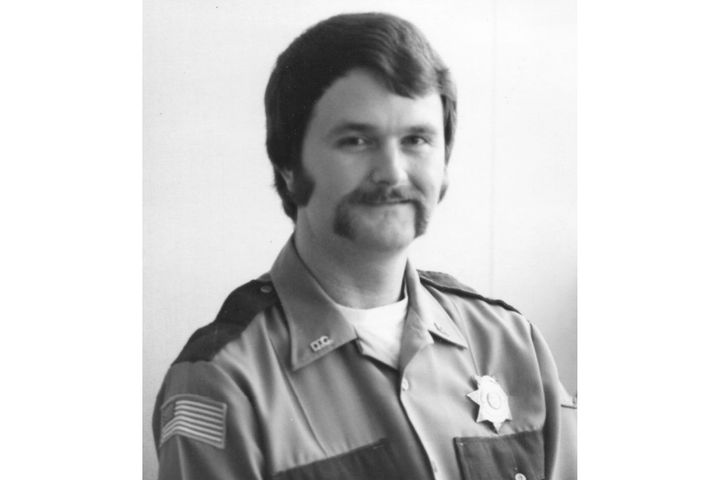 """Deputy Stanley """"Allen"""" Burdic of the Douglas County (OR) Sheriff'sOffice was shot and run over in 1980. (Photo: Douglas County SO) -"""