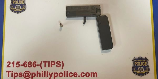 Philadelphia police recently took this .380 ACP derringer-style pistol disguised to look like a...