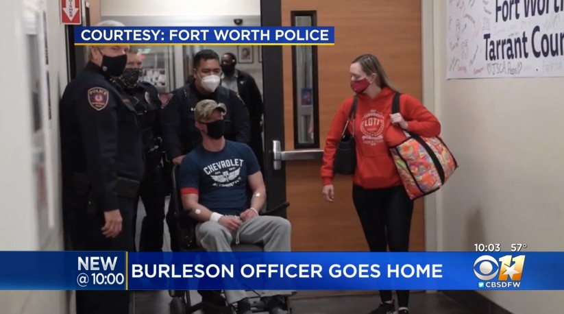 Officer Shot Multiple Times at Wednesday Traffic Stop Now Recovering at Home