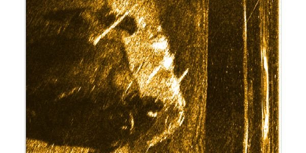 JW Fishers side scan sonar image of pickup truck at bottom of James River in South Dakota.