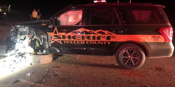 Officials say a suspected DUI driver crossed over the median and struck a Teller County...