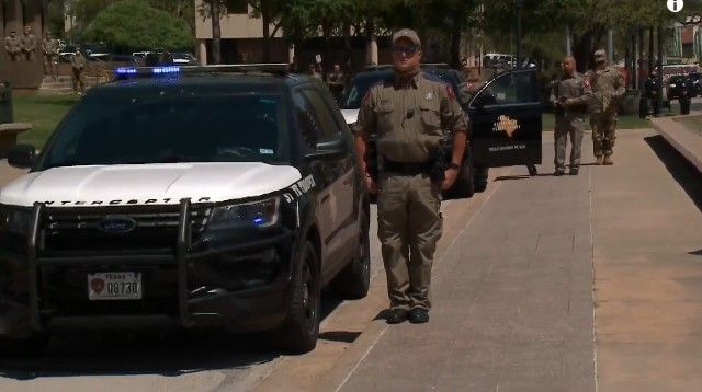 Gov. Greg Abbott asked Texas law enforcement to turn on their red and blue lights for one minute at 1 p.m. on Thursday to honor slain Trooper Chad Walker. (Photo: KXAN Screen Shot) -