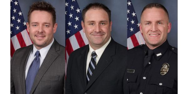 From left, Sgt. Jonathan Mattingly, Det. Myles Cosgrove and Det. Brett Hankison fired shots...