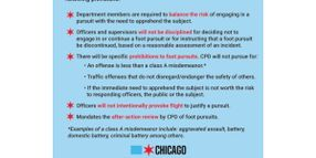Chicago Adopts Strict Foot Pursuit Policy