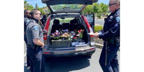 CA Officers Deliver Mother's Day Flowers After Arresting Delivery Driver
