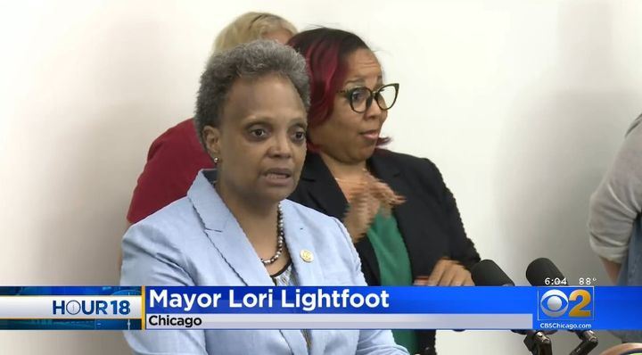 Mayor Lori Lightfoot discusses her plan for Chicago's Civilian Police Oversight Commission. (Photo: CBS Chicago screen shot) -