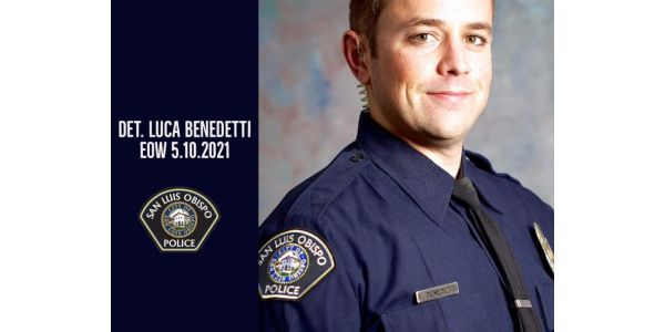 Det. Luca Benedetti was shot and killed serving a search warrant Monday. (Photo: San Luis Obispo...