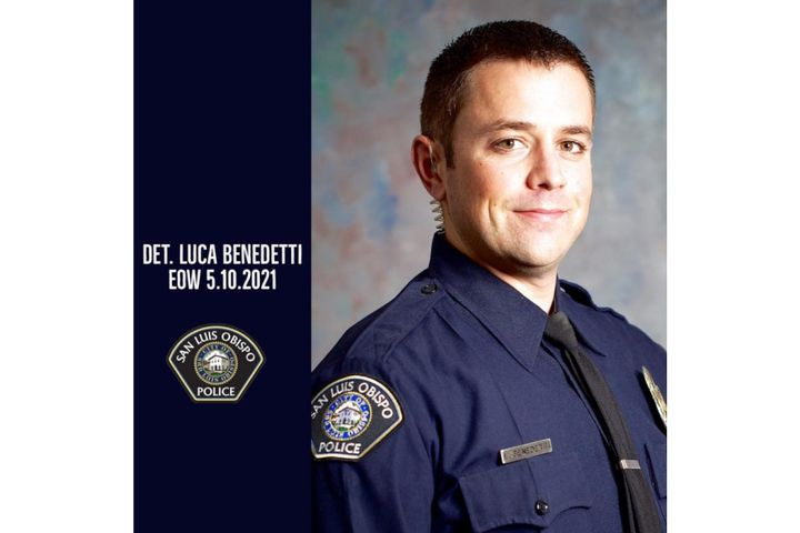 Det. Luca Benedetti was shot and killed serving a search warrant Monday. (Photo: San Luis Obispo PD/Facebook) -