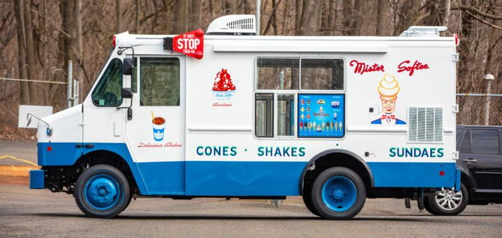 The Fraternal Order of Police Lodge No. 5 posted up outside District Attorney Larry Krasner's office with a Mister Softeeice cream truck and gave out the treat as a symbol of their message that the DA is soft on crime. -