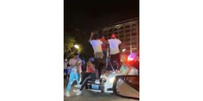 Mob of Partygoers Substantially Damage St. Louis Patrol Car During Response to Complaints