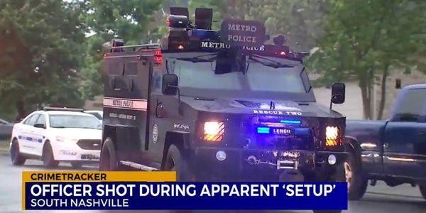 Nashville Officer Shot After Being Set Up by 911 Caller