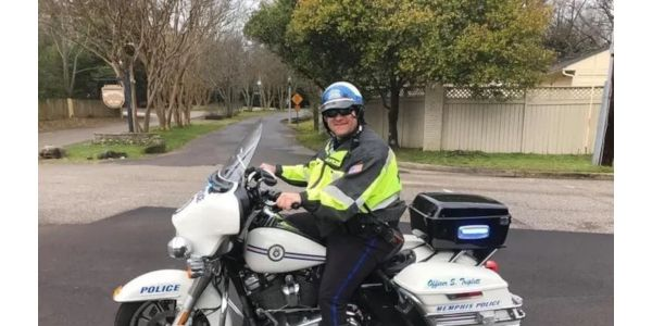 Officer Scotty Triplett of the Memphis Police Department died Saturday after a motor escort...