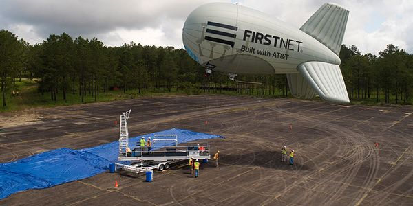 The FirstNet One aerostat can replacemultiple ground-based portable cell sites, making them...