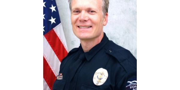 Arvada, CO, officer Gordon Beesley was killed responding to a call Monday. Chief Link Strate...