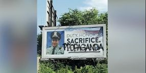 Billboard Honoring Slain Chicago Officer Vandalized
