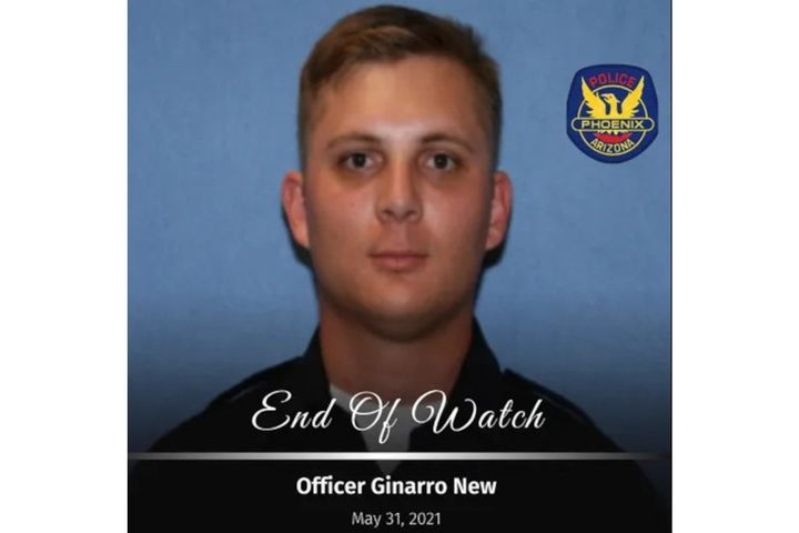 OfficerGinarro New of the Phoenix Police Departmentwas killed Monday in a crash. (Photo: Phoenix PD) -