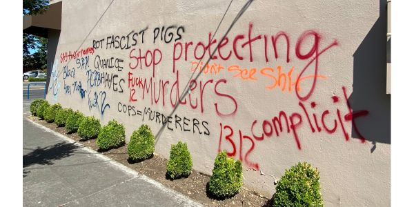 Portland's police union has moved to a new location after more than a year of vandalism and...