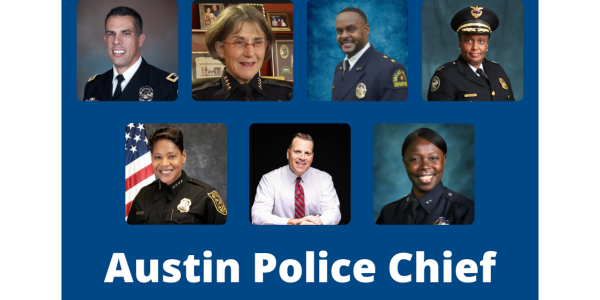 Seven law enforcement professionals are vying to be the next Austin police chief.