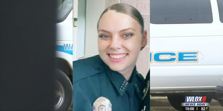 Officer Katie Cash, 33, was killed Sunday in an off-duty crash. She graduated from the Police Academy Friday. (Photo; WLOX) -