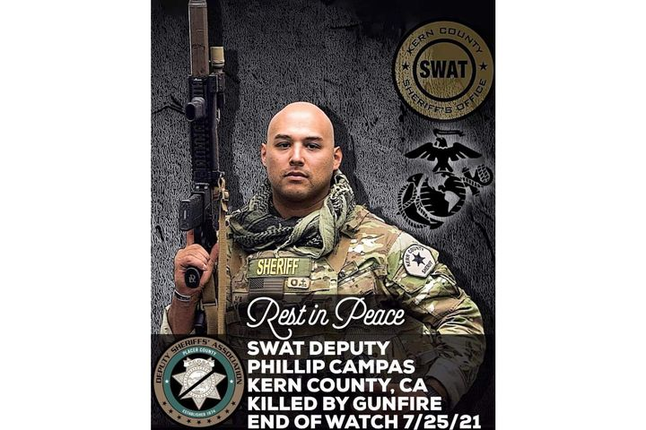 Kern County Sheriff's DeputyPhillip Campas was killed at a standoff Sunday. (Photo: Kern County SO/Facebook) -
