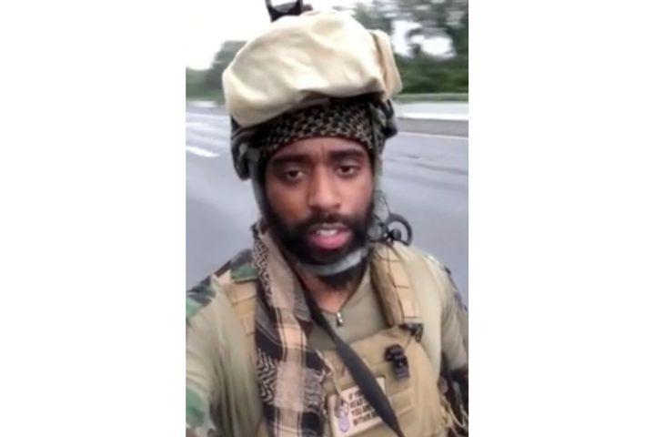 A member of the Rise of the Moors went on YouTube to dispute characterization of the group assovereign citizens, anti-government, anti-police, or black identity. (Photo: YouTube screen shot) -