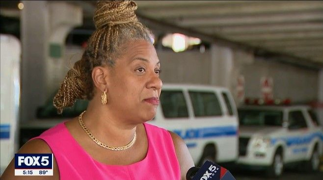 """Mount Vernon, NY, Mayor Shawyn Patterson-Howard says the city's police are using vans as patrol vehicle because """"sector cars"""" are not available. (Photo: Fox 5 screen shot) -"""